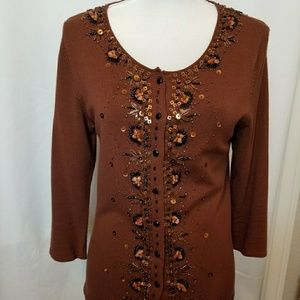 Coldwater Creek embellished sweater